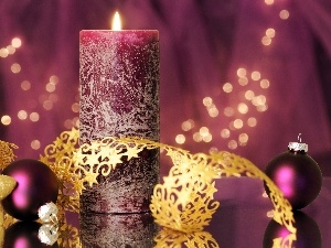 Christmas, candle, decoration