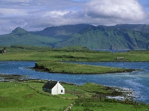 Coast, Scotland, Home, Mountains, medows