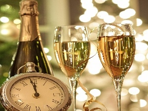 Champagne, Lights, Clock