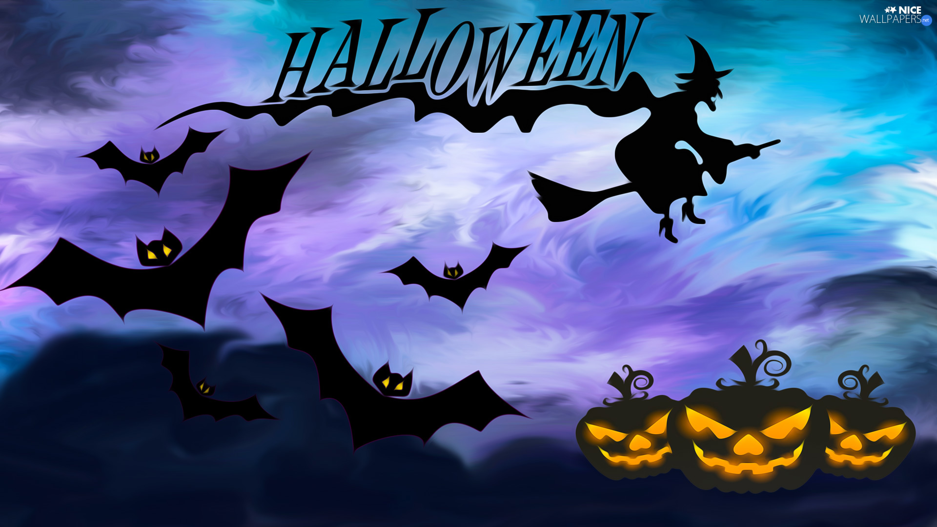 halloween, pumpkin, graphics, bats