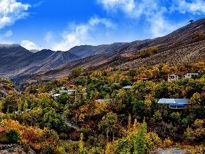 autumn, Mountains, colony