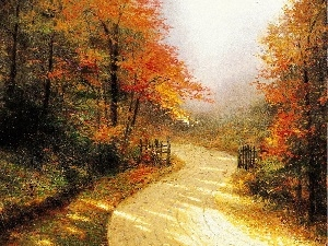 Autumn, picture, Way