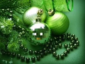 ornamentation, green ones, baubles