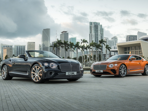 Cabriolet, coupe, cars, Bentley Continental GT V8, Two cars