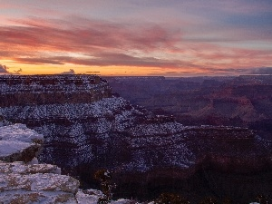 winter, Great Sunsets, canyon