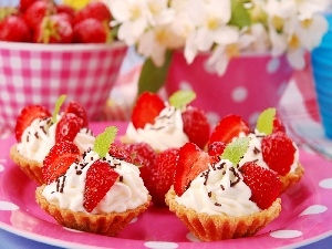 Flowers, Muffins, Strawberry
