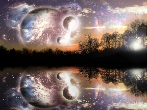 Sky, Universe, reflection